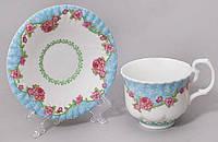 """Чайная пара """"Летний луг""""-A73 чашка 220мл с блюдцем в подарочной коробке"""