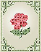 Схема для вышивки / вышивания бисером «Роза» (A6) 10x15