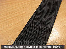 Ременная лента черная (25мм) 25м 6346 (елка)