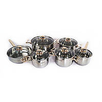 Набор кухонной посуды из нержавейки Supretto, 12 предметов