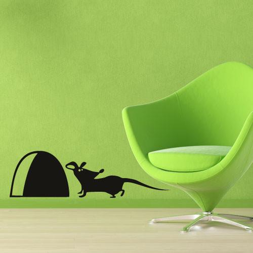 Акция! Наклейка Мышка с норой