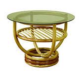 Журнальный столик Марс ЧФЛИ 520х690 мм плетенный со стеклом