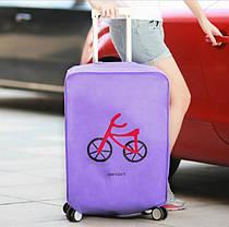 Защитный чехол для чемодана, желтый ( накидка для защиты чемоданов) , фото 3