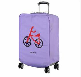 Защитный чехол на чемодан, фиолетовый ( накидка для защиты чемоданов)