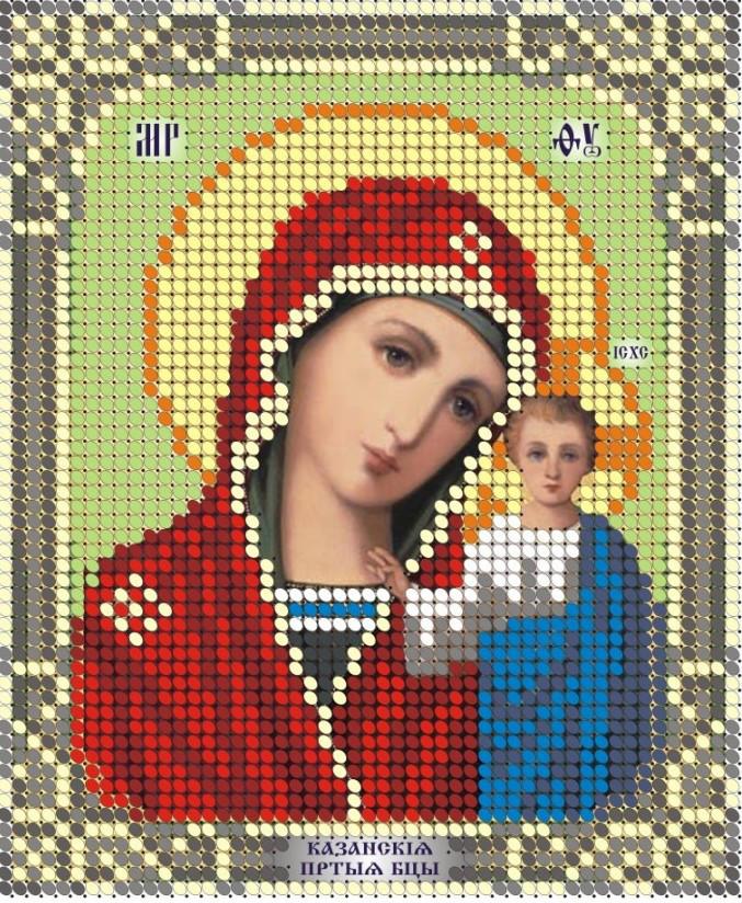 Схема для вышивки / вышивания бисером «МБ Казанська» (A6) 10x15