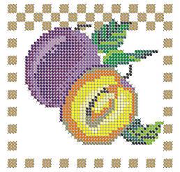 Схема для вышивки / вышивания бисером «Сливи» (A6) 10x15