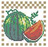 Схема для вышивки / вышивания бисером «Арбуз» (A6) 10x15