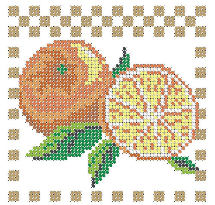 Схема для вышивки / вышивания бисером «Апельсини» (A6) 10x15