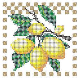 Схема для вышивки / вышивания бисером «Лимони» (A6) 10x15