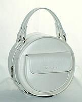Женская, стильная, круглая перламутровая сумка, фото 1