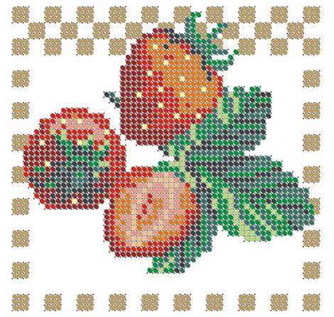 Схема для вышивки / вышивания бисером «Полуниця» (A6) 10x15