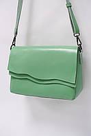 Сумка-клатч из натуральной кожи Solana 9106 l.green