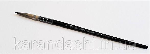 Кисть Pinax Hi-Tech AQUARELLE QUILL Синтетика Круглая №6 пленочная обойма сер 911, фото 3