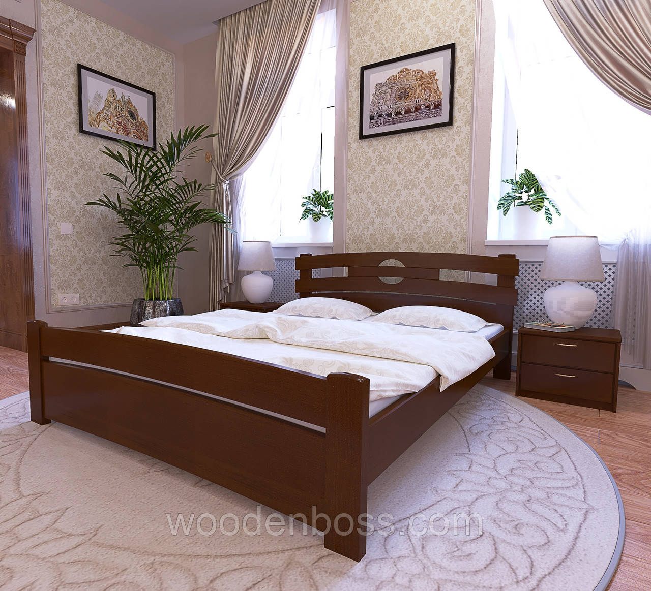 """Кровать полуторная от """"Wooden Boss"""" Токио Люкс (спальное место 120х190/200)"""