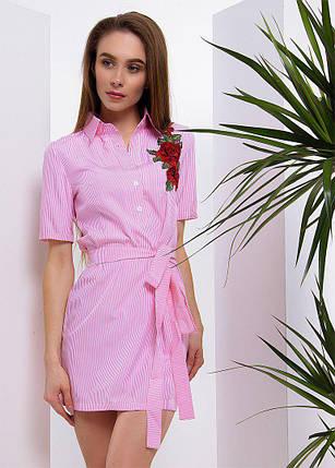 Стильное платье - рубашка с вышивкой тв-180507-1, фото 2