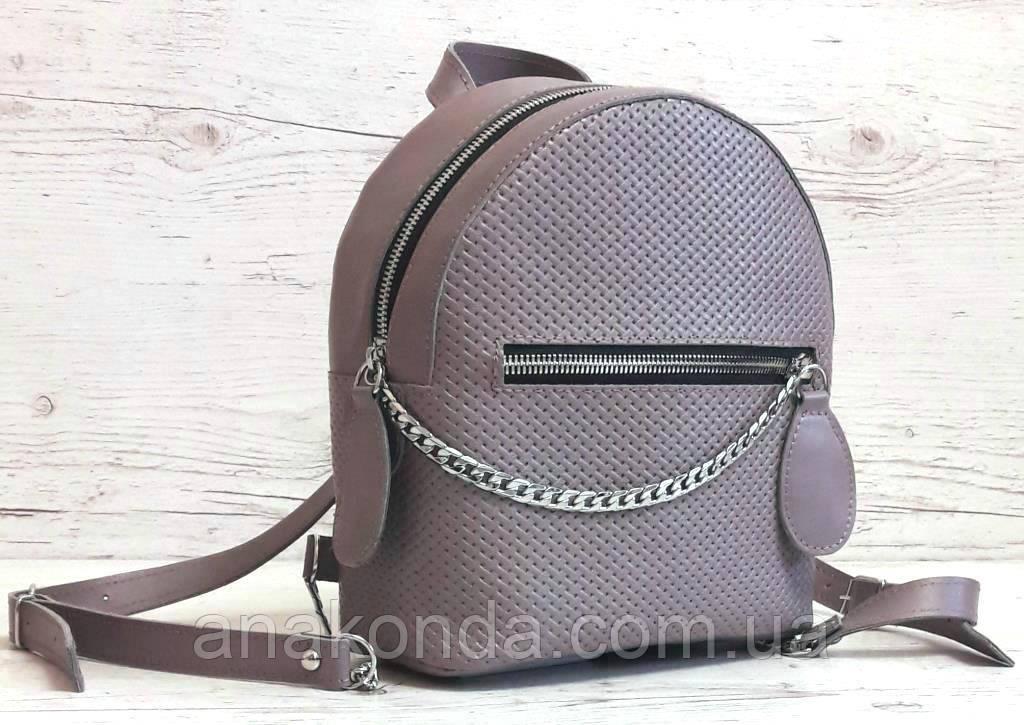 114-2 Натуральная кожа Городской рюкзак Кожаный рюкзак фиолетовый Рюкзак женский сиреневый рюкзак сиреневый
