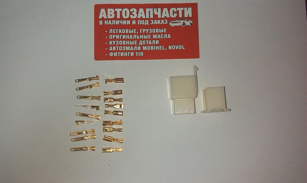 Разъем электрический 9 контактов разборной Д=2.8 мм.