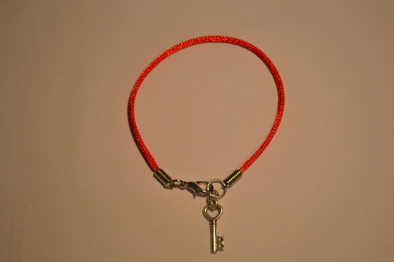 Браслет Красная нить Каббала с оберегом «Ключ»