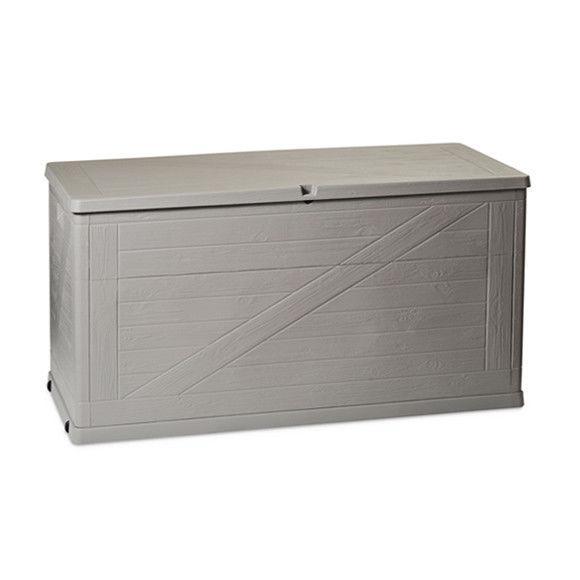 Сундук пластиковый Wood 420 л теплый серый Toomax