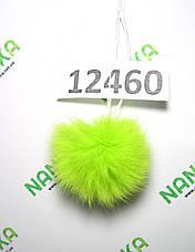 Меховой помпон Кролик, Неон Салат, 6 см, 12460, фото 3