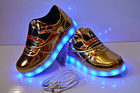 Светящиеся кроссовки LED с зарядкой от USB, 27 р. (17 см)