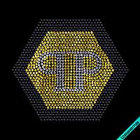 Дизайн на пояса Phillip Логотип (Стекло,2мм-зол.,2мм-черн.,2мм-бел.), фото 1