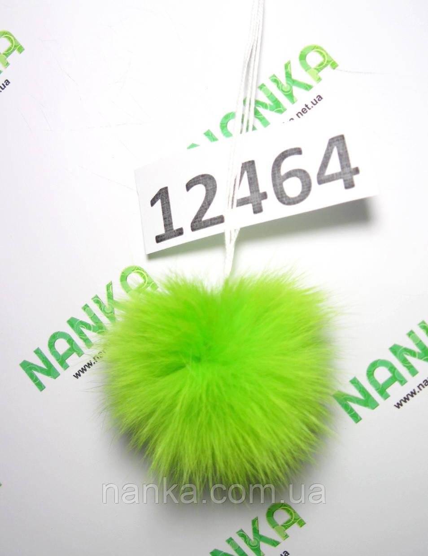 Меховой помпон Кролик, Неон Салат, 6 см, 12464