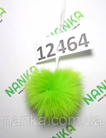 Меховой помпон Кролик, Неон Салат, 6 см, 12464, фото 2