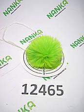 Меховой помпон Кролик, Неон Салат, 6 см, 12465, фото 2