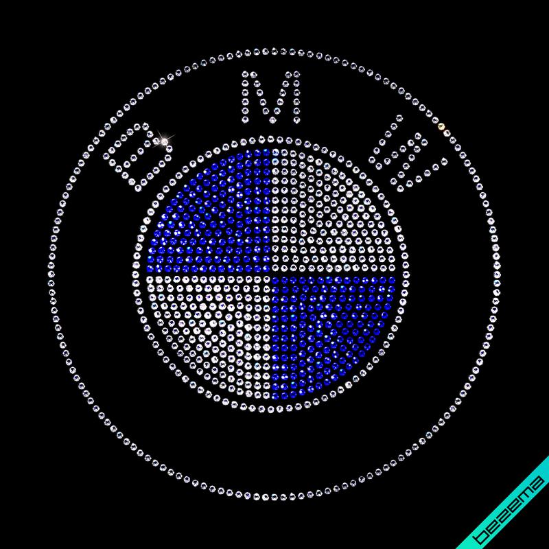Термопринты на слипоны,сникерсы BMW (Стекло,3мм-электрик,3мм-бел.)