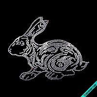 Дизайн на галстуки Заяц  (Стекло,3мм-бел.)