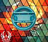 Чехол-руль для джойстика Nintendo Switch (синий)