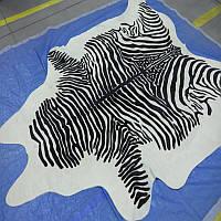 Шкура зебры, шкуры под зебру, черно белая шкура, экзотические шкуры, фото 1
