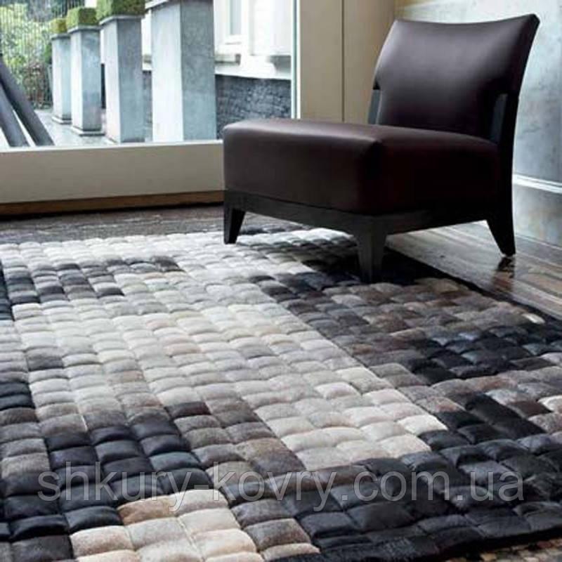 3д ковер из шкуры, объемные ковры, суперсовременный ковер на пол в серых оттенках