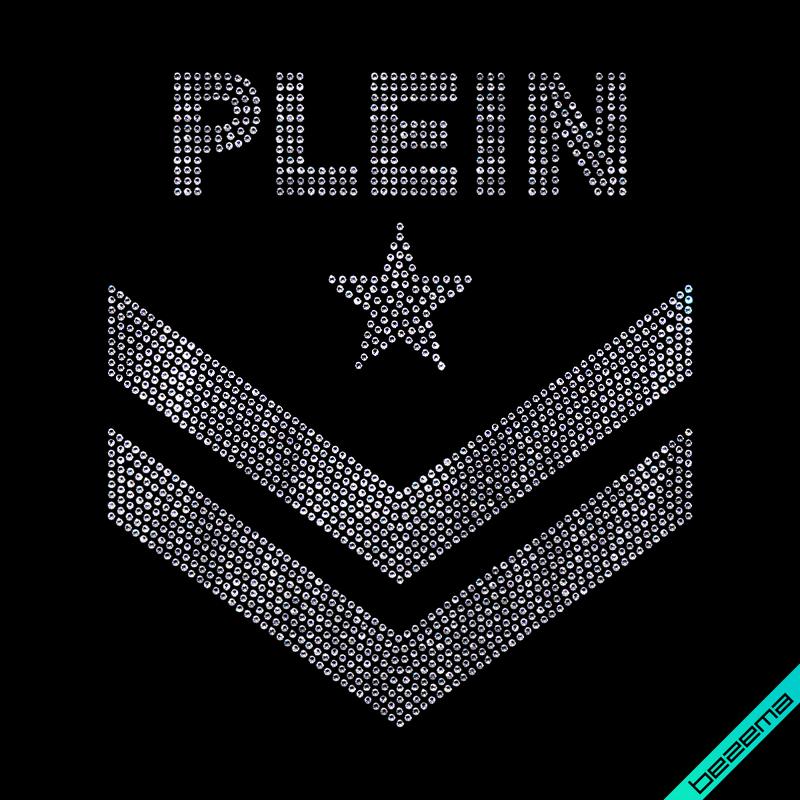 Дизайн на кашемир Philipp Логотип (Стекло,2мм-бел.)