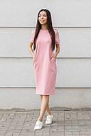 Платье футболка розового цвета, фото 1