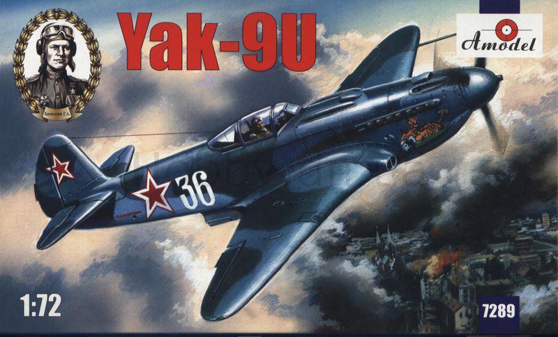 ЯК-9У. Сборная модель самолета в масштабе 1/72. AMODEL 7289