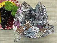 Небольшой отрез ситца для рукоделия Цветы в спокойных тонах  20*25 см