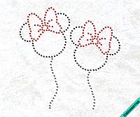 Термопринты на трикотаж Шарики Минни (Стекло,2мм-гем.,2мм-красн.)