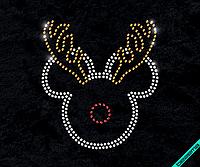 Термоперевод на сатин Микки-олень (Стекло,3мм-бел.,3мм-зол.,3мм-красн.), фото 1