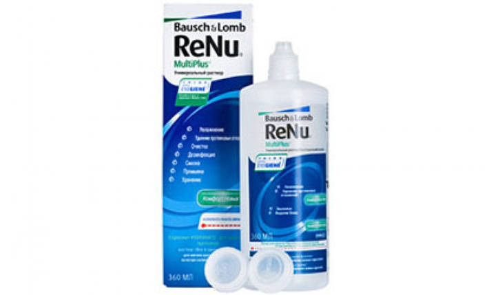Раствор для контактных линз ReNu MultiPlus 360ml, фото 2
