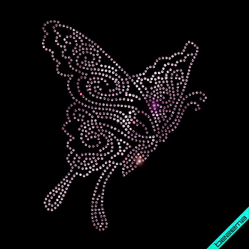 Термотрансфер на одеяла Бабочка (Стекло,3мм-роз.)