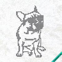 Термопринт на плащи Собака в очках (Стекло,2мм-черн.)