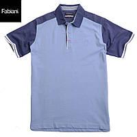 Футболка мужская поло Fabiani-4311 голубая