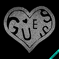 Термоперевод на изделия из ткани Логотип (Стекло,2мм-серебр.)