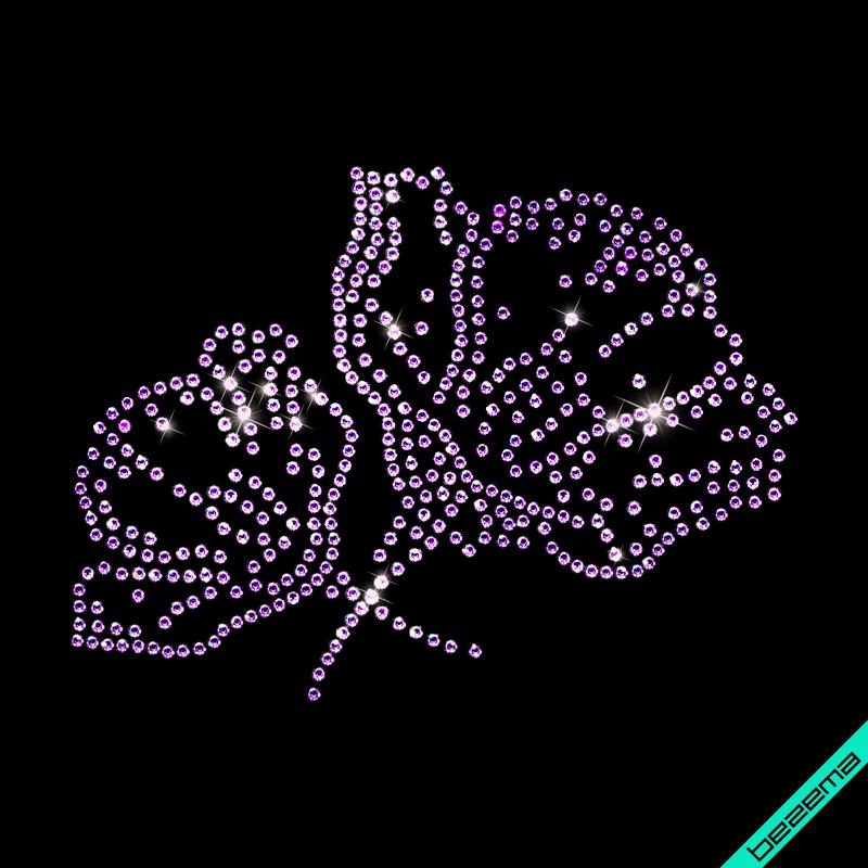 Термонаклейки на дорожные сумки Цветы (Стекло,2мм-фиол.)