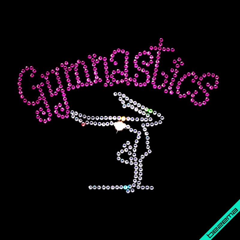 Малюнки зі страз на джинси GymnastIcs (Скло,2мм-біл.,2мм-роз.)