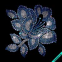 Термопереводки Цветок (Стекло, 2мм-бел, 2мм-син, 3мм-бенз.св.син.)