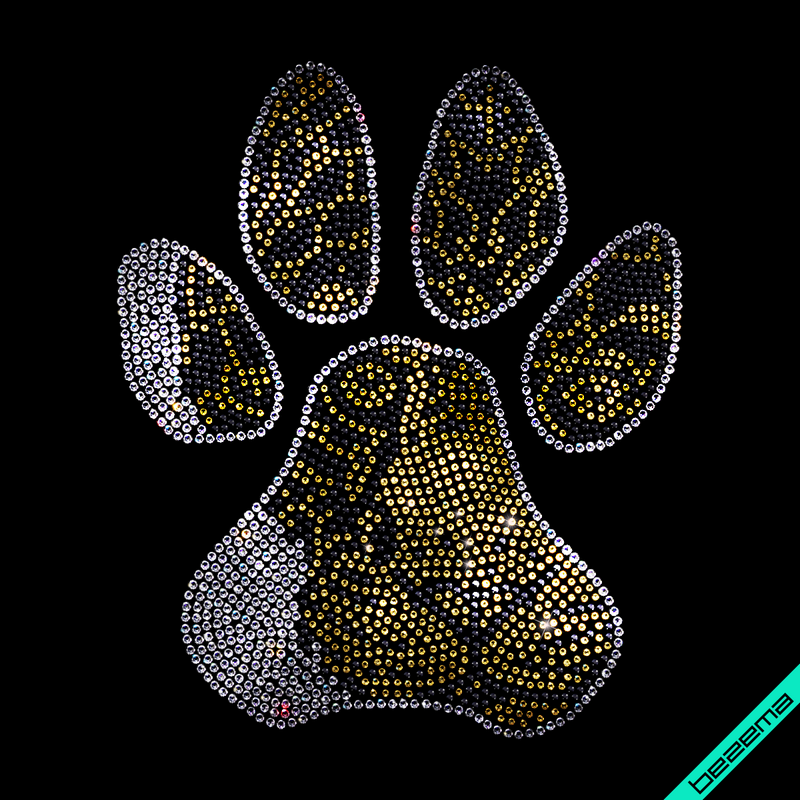Термотрансферы на полотенца Лапа тигра (Стекло,2мм-черн.,2мм-дым.зол.,3мм-бел.)
