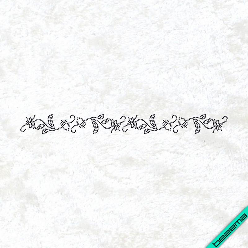 Аплікації на півчобітки Орнамент (Скло,2мм-черн.)